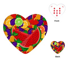 Summer Fruits Playing Cards (heart)