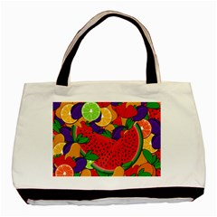 Summer Fruits Basic Tote Bag by Valentinaart