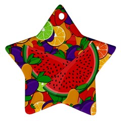 Summer Fruits Star Ornament (two Sides) by Valentinaart