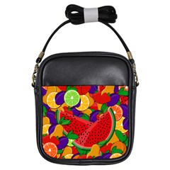 Summer Fruits Girls Sling Bags by Valentinaart