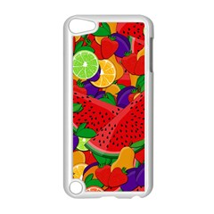 Summer Fruits Apple Ipod Touch 5 Case (white) by Valentinaart