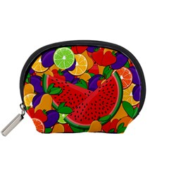 Summer Fruits Accessory Pouches (small)  by Valentinaart