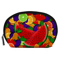 Summer Fruits Accessory Pouches (large)  by Valentinaart