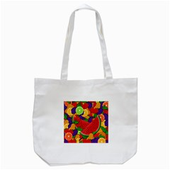 Summer Fruits Tote Bag (white) by Valentinaart