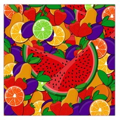 Summer Fruits Large Satin Scarf (square) by Valentinaart