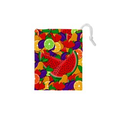 Summer Fruits Drawstring Pouches (xs)  by Valentinaart