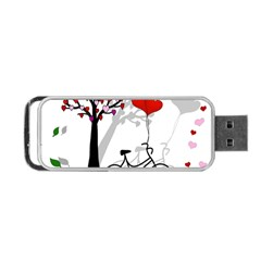 Love Design Portable Usb Flash (two Sides) by Valentinaart