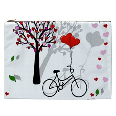 Love Design Cosmetic Bag (xxl)  by Valentinaart