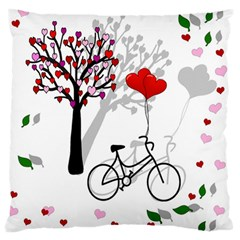 Love Design Large Flano Cushion Case (one Side) by Valentinaart
