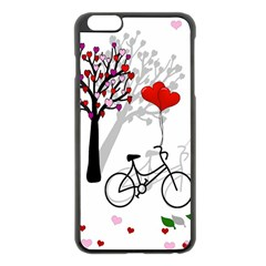 Love Design Apple Iphone 6 Plus/6s Plus Black Enamel Case by Valentinaart