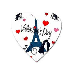 Valentine s Day   Paris Heart Magnet by Valentinaart