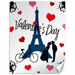 Valentine s Day   Paris Canvas 12  X 16   by Valentinaart
