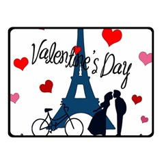 Valentine s Day   Paris Fleece Blanket (small) by Valentinaart