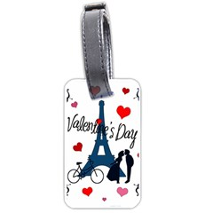 Valentine s Day   Paris Luggage Tags (one Side)
