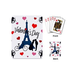 Valentine s Day   Paris Playing Cards (mini)  by Valentinaart
