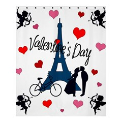 Valentine s Day   Paris Shower Curtain 60  X 72  (medium)  by Valentinaart