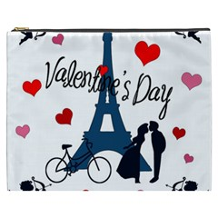 Valentine s Day   Paris Cosmetic Bag (xxxl)