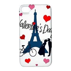 Valentine s Day   Paris Apple Iphone 4/4s Hardshell Case With Stand by Valentinaart