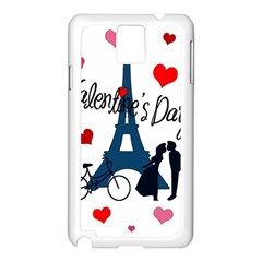 Valentine s Day   Paris Samsung Galaxy Note 3 N9005 Case (white) by Valentinaart