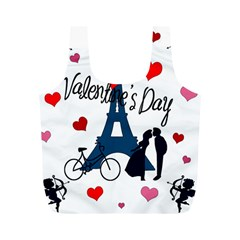 Valentine s Day   Paris Full Print Recycle Bags (m)  by Valentinaart