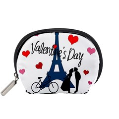 Valentine s Day   Paris Accessory Pouches (small)  by Valentinaart