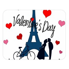 Valentine s Day   Paris Double Sided Flano Blanket (large)