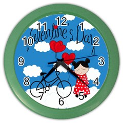 Girls Daydream Color Wall Clocks by Valentinaart