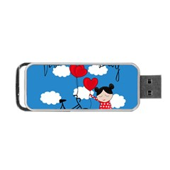 Girls Daydream Portable Usb Flash (one Side) by Valentinaart