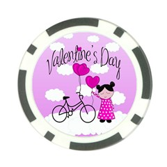 Pink Daydream  Poker Chip Card Guard by Valentinaart
