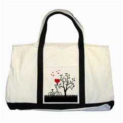 Love Hill Two Tone Tote Bag