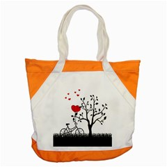 Love Hill Accent Tote Bag by Valentinaart