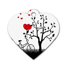 Love Hill Dog Tag Heart (one Side)