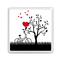 Love Hill Memory Card Reader (square)  by Valentinaart