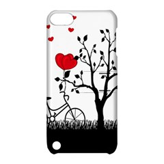 Love Hill Apple Ipod Touch 5 Hardshell Case With Stand by Valentinaart