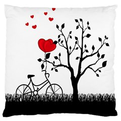 Love Hill Large Flano Cushion Case (one Side) by Valentinaart