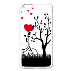 Love Hill Apple Iphone 6 Plus/6s Plus Enamel White Case by Valentinaart