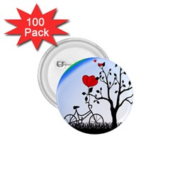 Love Hill   Rainbow 1 75  Buttons (100 Pack)  by Valentinaart