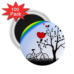 Love Hill   Rainbow 2 25  Magnets (100 Pack)  by Valentinaart