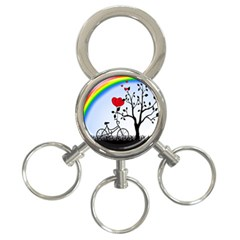 Love Hill   Rainbow 3 Ring Key Chains by Valentinaart