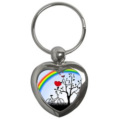 Love Hill   Rainbow Key Chains (heart)  by Valentinaart