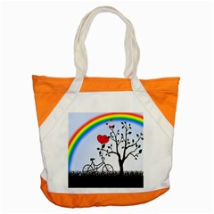Love Hill   Rainbow Accent Tote Bag by Valentinaart
