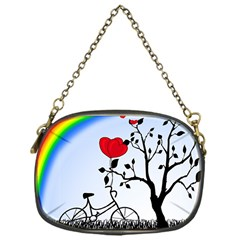 Love Hill   Rainbow Chain Purses (one Side)  by Valentinaart