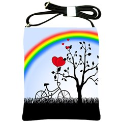 Love Hill   Rainbow Shoulder Sling Bags by Valentinaart