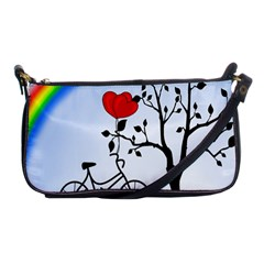 Love Hill   Rainbow Shoulder Clutch Bags by Valentinaart