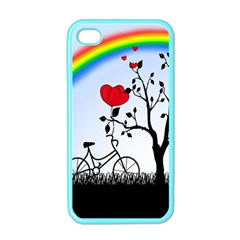 Love Hill   Rainbow Apple Iphone 4 Case (color)