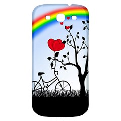 Love Hill   Rainbow Samsung Galaxy S3 S Iii Classic Hardshell Back Case by Valentinaart