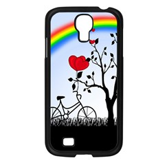 Love Hill   Rainbow Samsung Galaxy S4 I9500/ I9505 Case (black) by Valentinaart