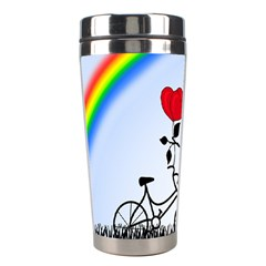 Love Hill   Rainbow Stainless Steel Travel Tumblers by Valentinaart