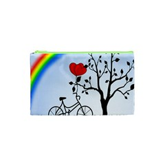 Love Hill   Rainbow Cosmetic Bag (xs) by Valentinaart