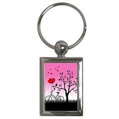 Love Sunrise Key Chains (rectangle)  by Valentinaart
